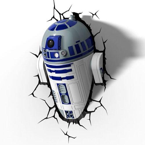 R2-D2 - Luminária 3D Light FX Star Wars 3