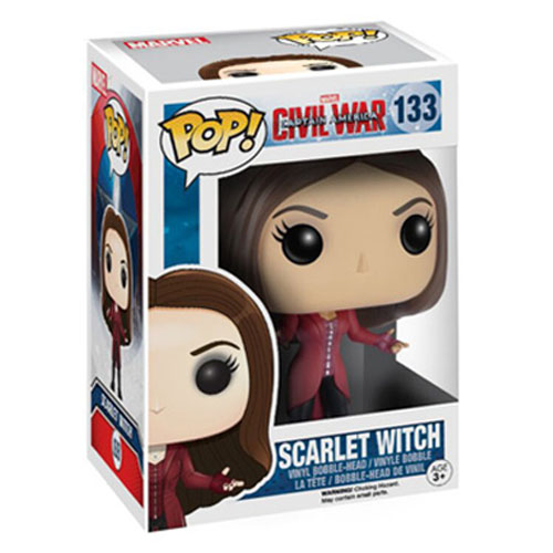 Scarlet Witch / Feiticeira Escarlate - Funko Pop Captain America Civil War Marvel 3
