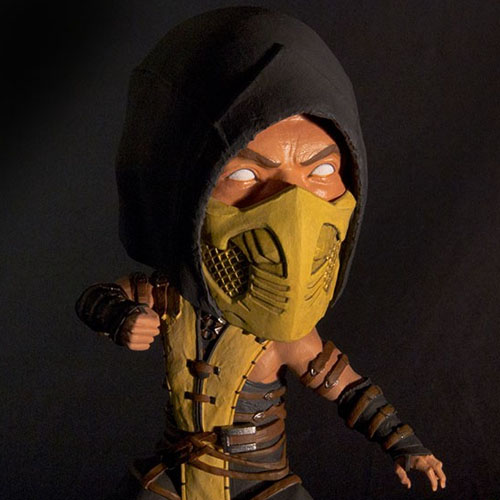 Scorpion - Bobble Head Mortal Kombat X - Mezco 2