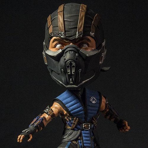 Sub-Zero - Bobble Head Mortal Kombat X - Mezco 3