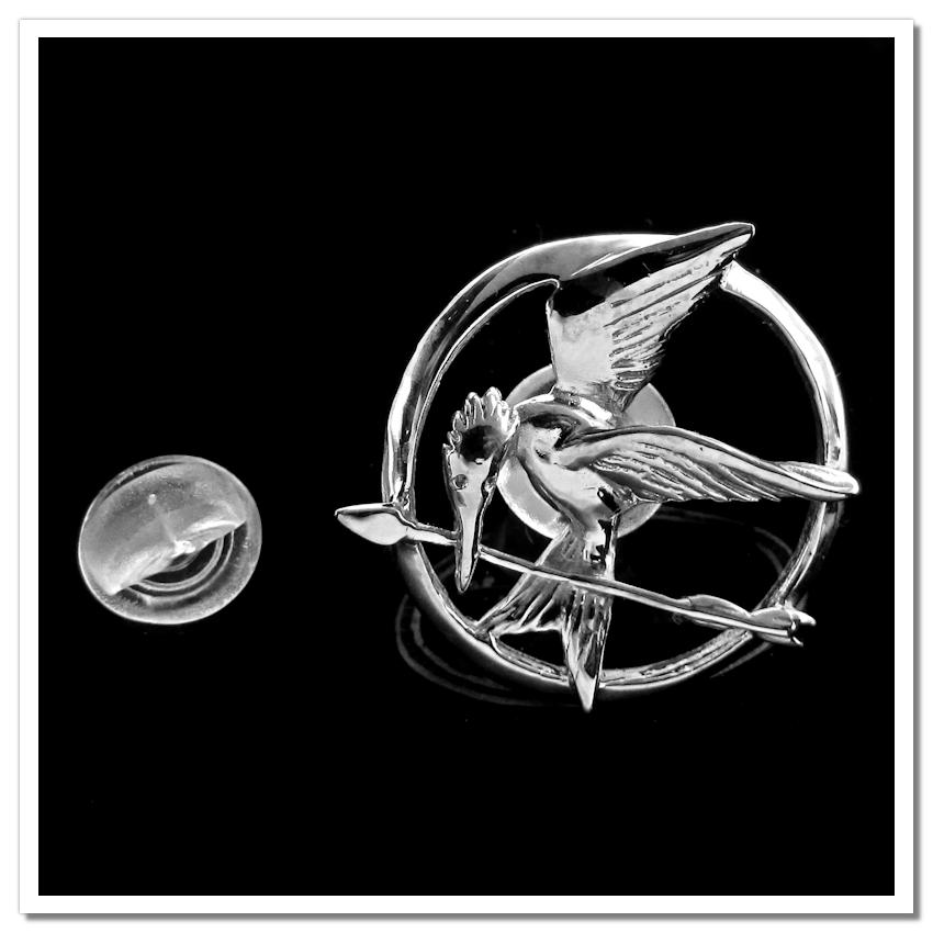 Tordo - Jogos Vorazes - Pin / Broche Folheado a Prata 2
