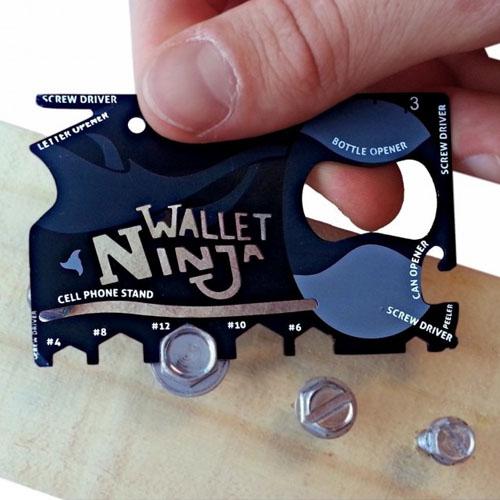 Wallet Ninja - Cartão Gadget Multifuncional 18 em 1 4