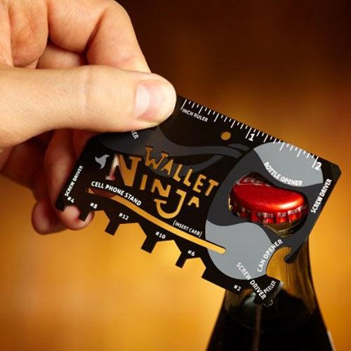 Wallet Ninja - Cartão Gadget Multifuncional 18 em 1 2