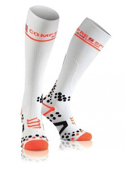 Meia de Compressão Compressport Full Socks - branca