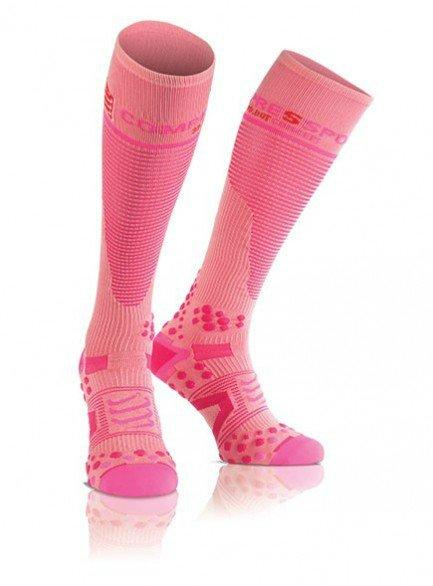Meia de Compressão Compressport Full Socks - rosa