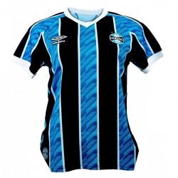 Imagem - Camisa Fem Umbro 921170 Gremio Of.1  Celeste/pto/branco - 439211705