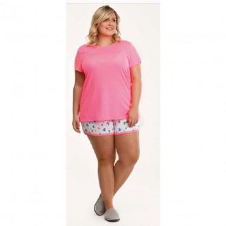 Imagem - Danka 6480 Pijama Plus M/c  Neon (blusa e Short)
