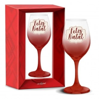 Imagem - Taça Vinho Feliz Natal 318 ml 1787 - Art & Bel