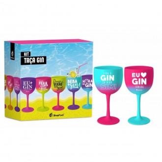 Imagem - Taça Para o Gin Digo Sim 2 Peças 580ml 10569 - Brasfoot
