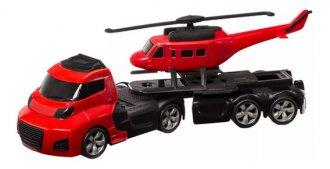 Imagem - Caminhão Com 1 Helicóptero Invictus Sky 1053 - Cardoso Toys