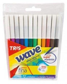 Imagem - Canetinha Wave 12 unidades 618692 -  Tris