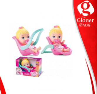 Imagem - Conforto Boneca com Bebê Conforto Little Dolls - Diver Toys