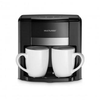 Imagem - Cafeteira Elétrica 220V 2 Xícaras + Colher Dosadora + Filtro Permanente Preta BE010 - Multilaser