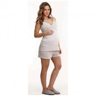 Imagem - Danka 6530 Pijama Gestante M/c  (blusa e Short)