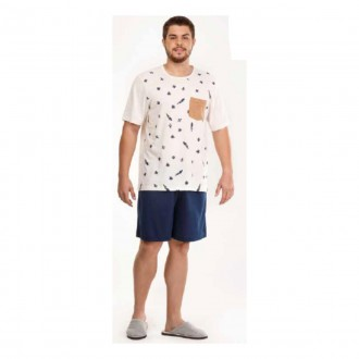Imagem - Danka 6543 Pijama Plus M/c  (camiseta e Bermuda)