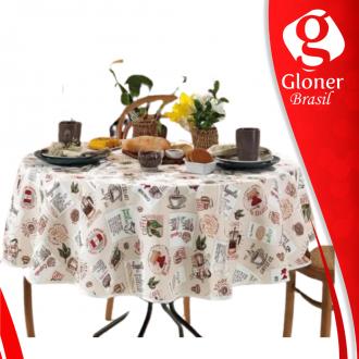 Imagem - Toalha de mesa redonda Clean Emma 1,60 - Dohler