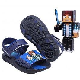 Imagem - Sandália Papete Com Brinquedo Boneco Authentic Games Minecraft 22627