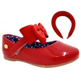 Imagem - Sapatilha Infantil Com Tiara Klin 154146-00028 - Vermelho