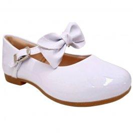 Imagem - Sapatilha Sapato Infantil Social Com Laço Pampilli - Branco