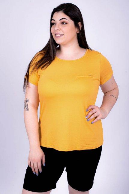 Imagem - Blusa Viscose Feminina Plus Size