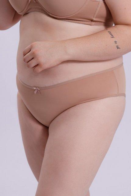 Imagem - Calcinha Feminina Plus Size Chocolate Lateral Média Microfibra