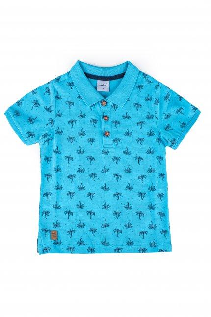 Imagem - Camisa Gola Polo Bebê Estampa Coqueiros