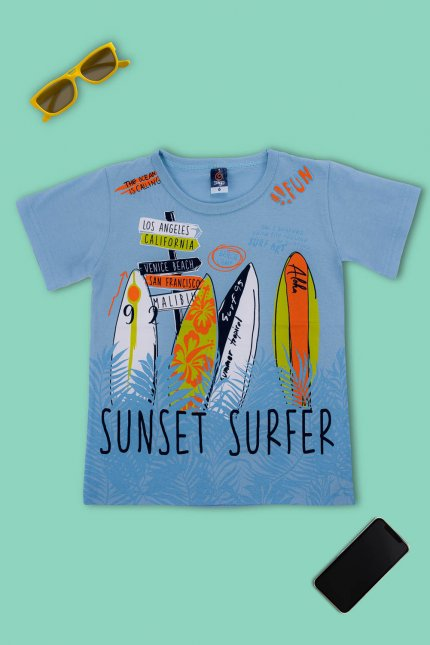 Imagem - Camiseta Infantil Menino Estampa Surf