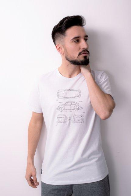 Imagem - Camiseta Masculina Manga Curta Branca