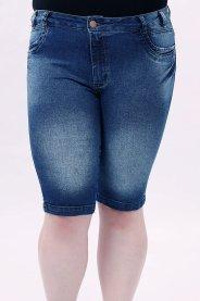 Imagem - Bermuda Jeans Longa Cós Alto Plus Size