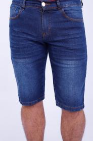 Imagem - Bermuda Jeans Masculina Azul Médio Com Lavagem