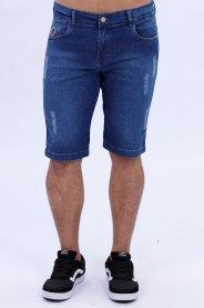 Imagem - Bermuda Jeans Masculina Com Botão E Zíper