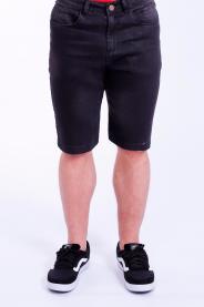 Imagem - Bermuda Jeans Masculina Preta Com Lavagem