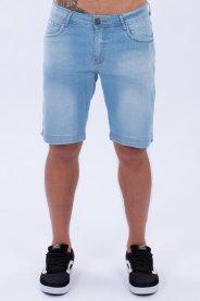 Imagem - Bermuda Jeans Masculino Azul  Com Lavagem