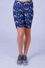 Imagem - Bermuda Poliéster Feminina Estampada Azul Básica