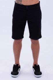 Imagem - Bermuda Sarja Masculina Preta Bolso Faca