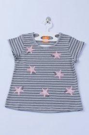 Imagem - Blusa Cotton  Listrado Mescla Estrelas