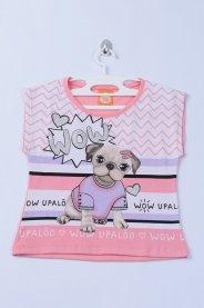 Imagem - Blusa Infantil Com Silk Dog Rose