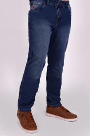 Imagem - Calça Jeans Masculina Moletom Com Lavagem