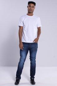 Imagem - Calça Jeans Masculina Slim Azul Escuro Com Lavagem