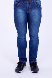 Imagem - Calça Jeans Masculina Slim Azul Médio Com Lavagem