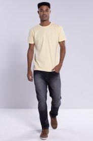 Imagem - Calça Jeans Masculina Slim Preta Com Lavagem