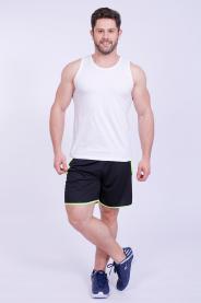 Imagem - Calção Dry Masculino Preto Com Recorte e Viés Sem Forro