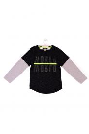 Imagem - Camiseta Infantil  Menino Com SIlk Malha Jet Ting Preta