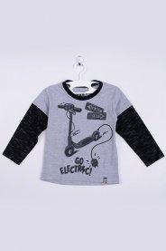 Imagem - Camiseta Manga Longa Bebê Silk Mescla Sobreposição