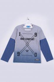 Imagem - Camiseta Manga Longa Infantil Mescla Degrade