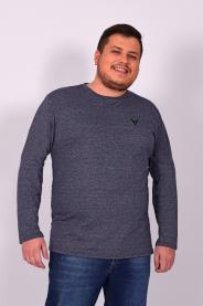 Imagem - Camiseta Molinet Plus Size Masculina Marinho Mescla