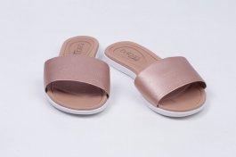 Imagem - Chinelo Feminino Beira-Rio Slide Com Gaspea Com Textura Metalizada