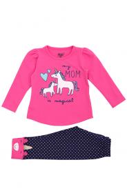 Imagem - Conjunto Moletom Bebê Menina Pink