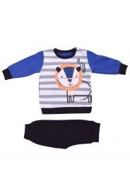 Imagem - Conjunto Moletom Bebê Menino Listrado Azul