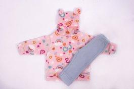 Imagem - Conjunto Soft Bebê Menina Estampado Com Capuz